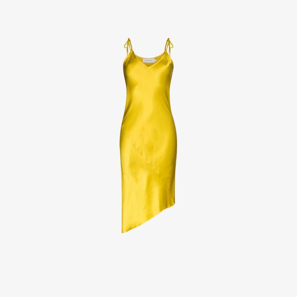 Slip Silk レディース マルケス パーティードレス Dress】yellow アルメイダ スリップドレス Marques'Almeida ワンピース・ドレス【Asymmetric