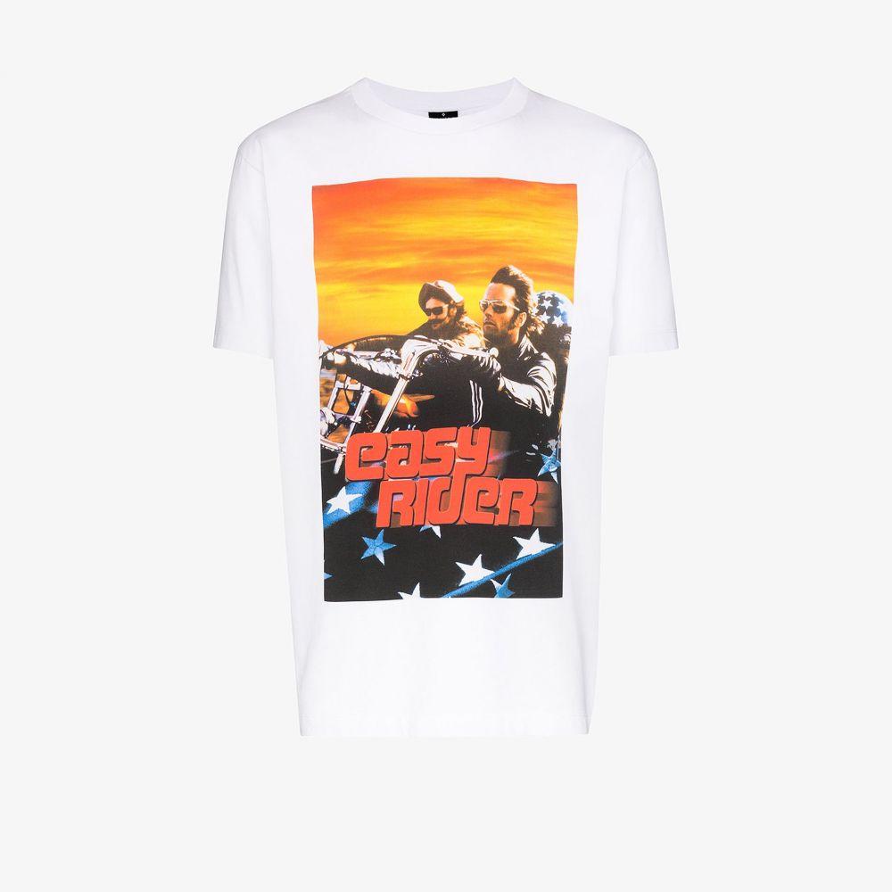マルセロバーロン MARCELO BURLON COUNTY OF MILAN メンズ Tシャツ トップス【easy rider print cotton t-shirt】white