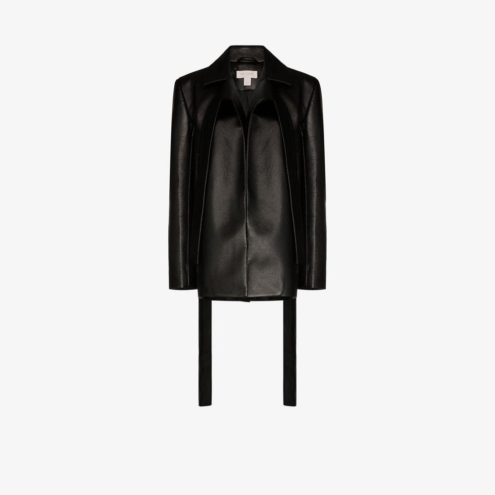マテリエル Materiel レディース スーツ・ジャケット アウター【faux leather blazer jacket】black