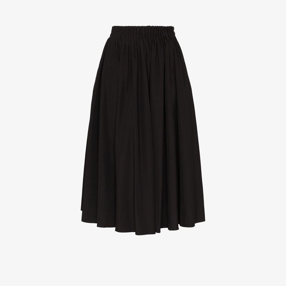 マルニ Marni レディース ひざ丈スカート スカート【puckered cotton midi skirt】black