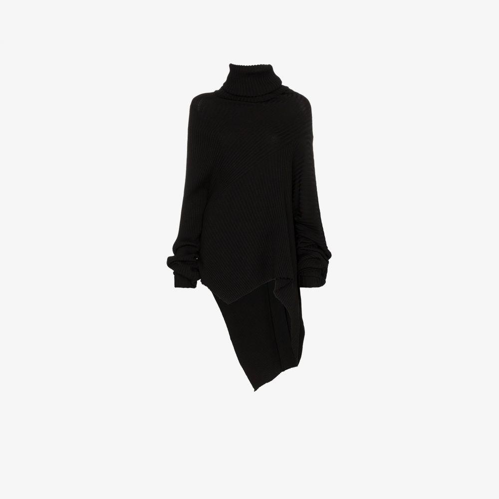 マルケス アルメイダ Marques'Almeida レディース ニット・セーター トップス【asymmetric turtleneck sweater】black