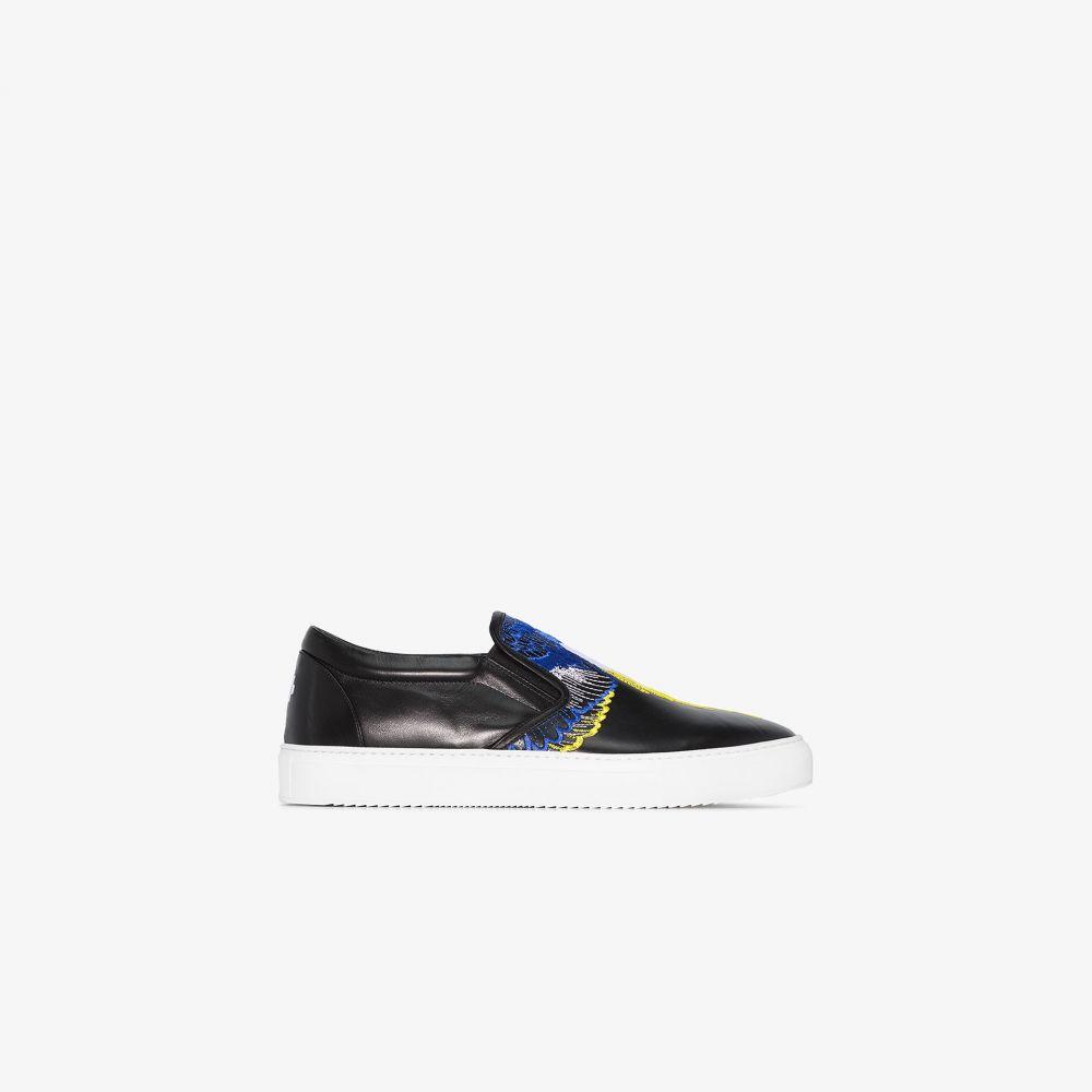 マルセロバーロン MARCELO BURLON COUNTY OF MILAN メンズ スニーカー シューズ・靴【black Wings slip-on sneakers】black
