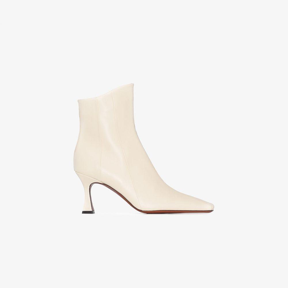 マニュ アトリエ Manu Atelier レディース ブーツ ショートブーツ シューズ・靴【neutral Duck 80 leather ankle boots】neutrals