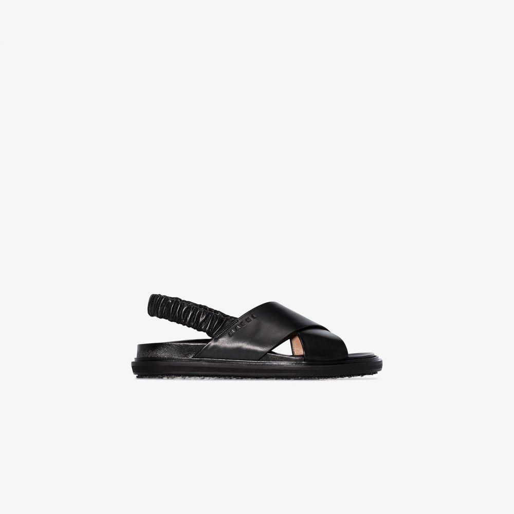 マルニ Marni レディース サンダル・ミュール シューズ・靴【Fussbett sandals】black