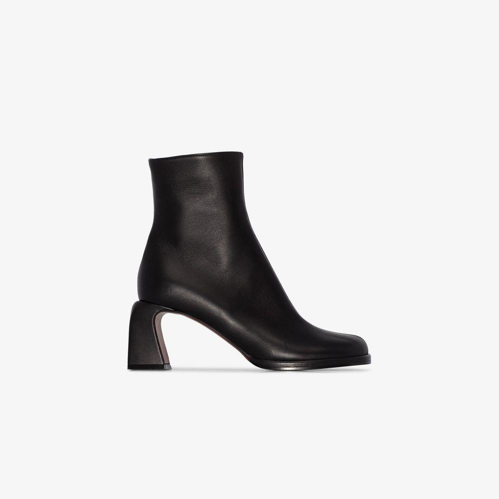 マニュ アトリエ Manu Atelier レディース ブーツ ショートブーツ シューズ・靴【Black Chae 65 leather ankle boots】black