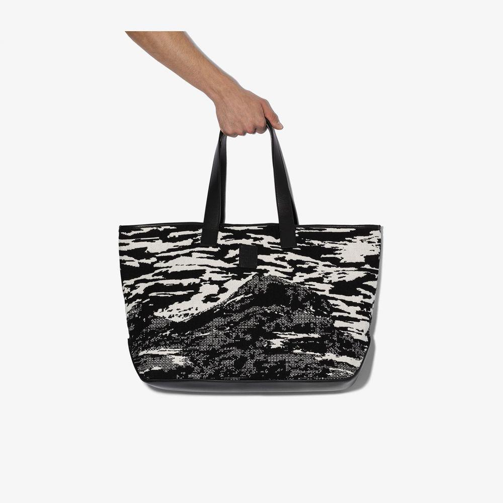 マルセロバーロン MARCELO BURLON COUNTY OF MILAN メンズ トートバッグ バッグ【black and white mountains tote bag】black