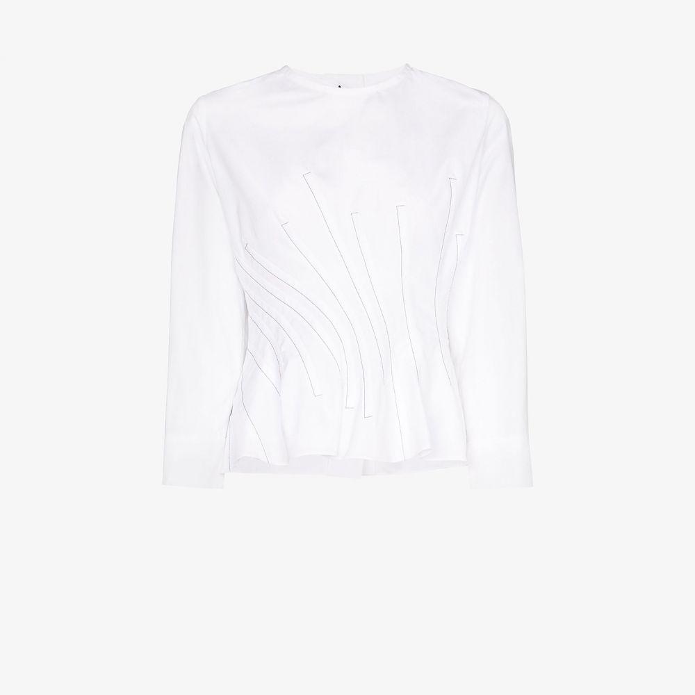 マルニ Marni レディース トップス 【Twisted waist button back top】white