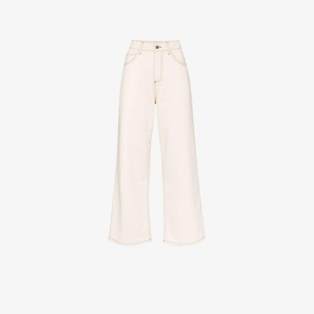 マルニ Marni レディース ジーンズ・デニム ワイドパンツ ボトムス・パンツ【High-Rise Wide Leg Jeans】neutrals