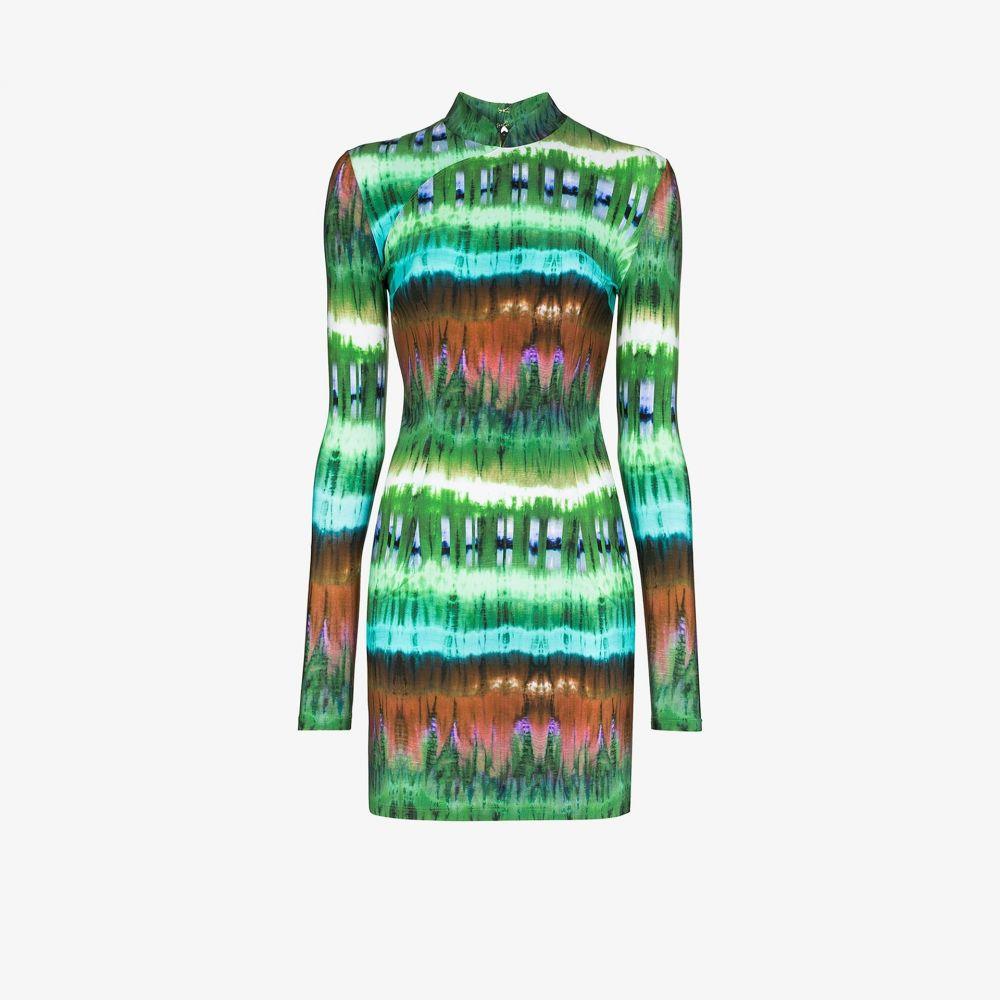 マルシア Marcia レディース パーティードレス ミニ丈 ワンピース・ドレス【mireille tie-dye mini dress】green