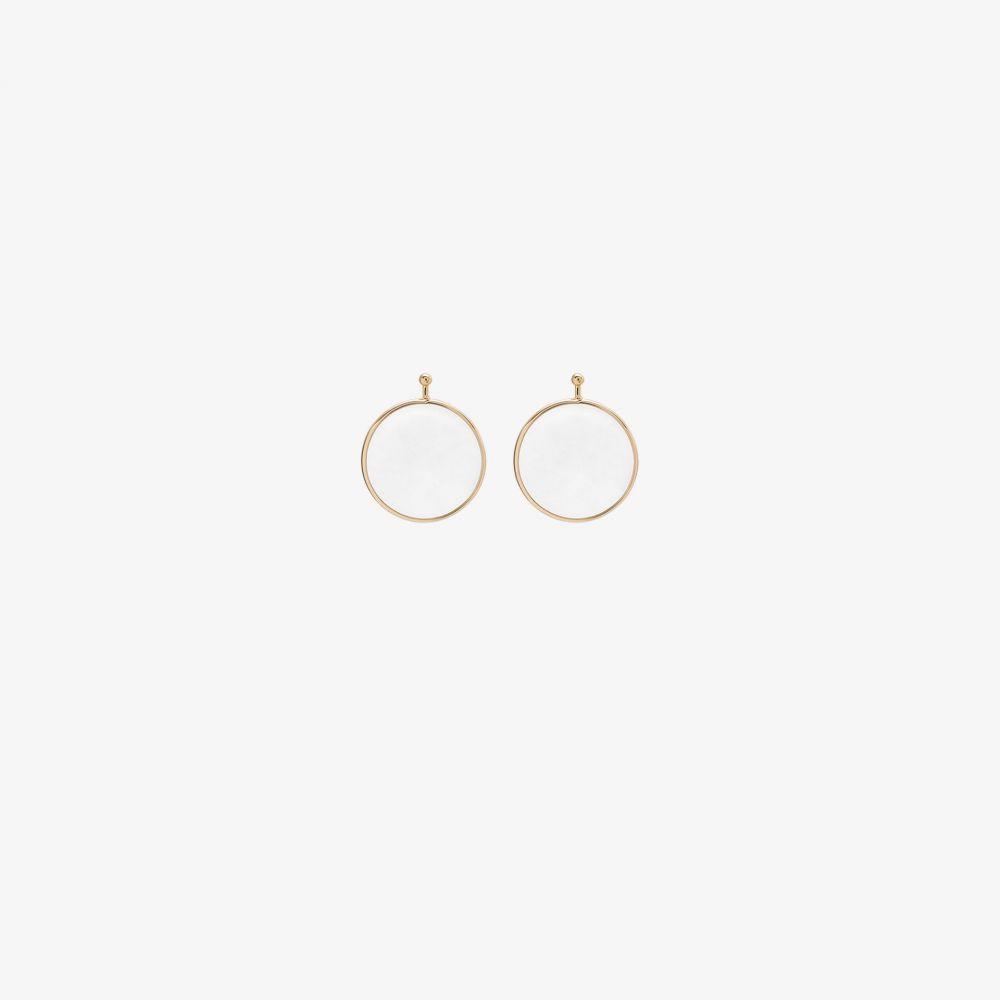 マーラ アーロン Marla Aaron レディース ジュエリー・アクセサリー チャーム【18K rose gold pin quartz mini disc earring charm】