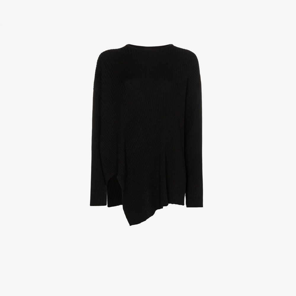 マルケス アルメイダ Marques'Almeida レディース ニット・セーター トップス【Asymmetric merino sweater】black