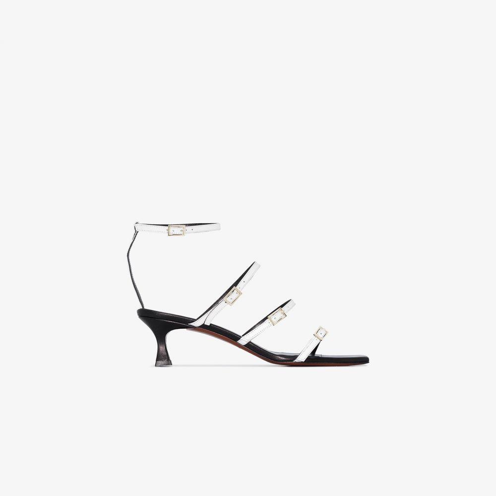 マニュ アトリエ Manu Atelier レディース サンダル・ミュール シューズ・靴【White Naomi 50 leather strap sandals】white