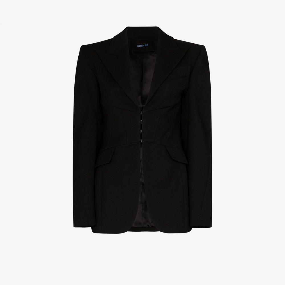 ミュグレー Mugler レディース スーツ・ジャケット アウター【fitted virgin wool blazer】black