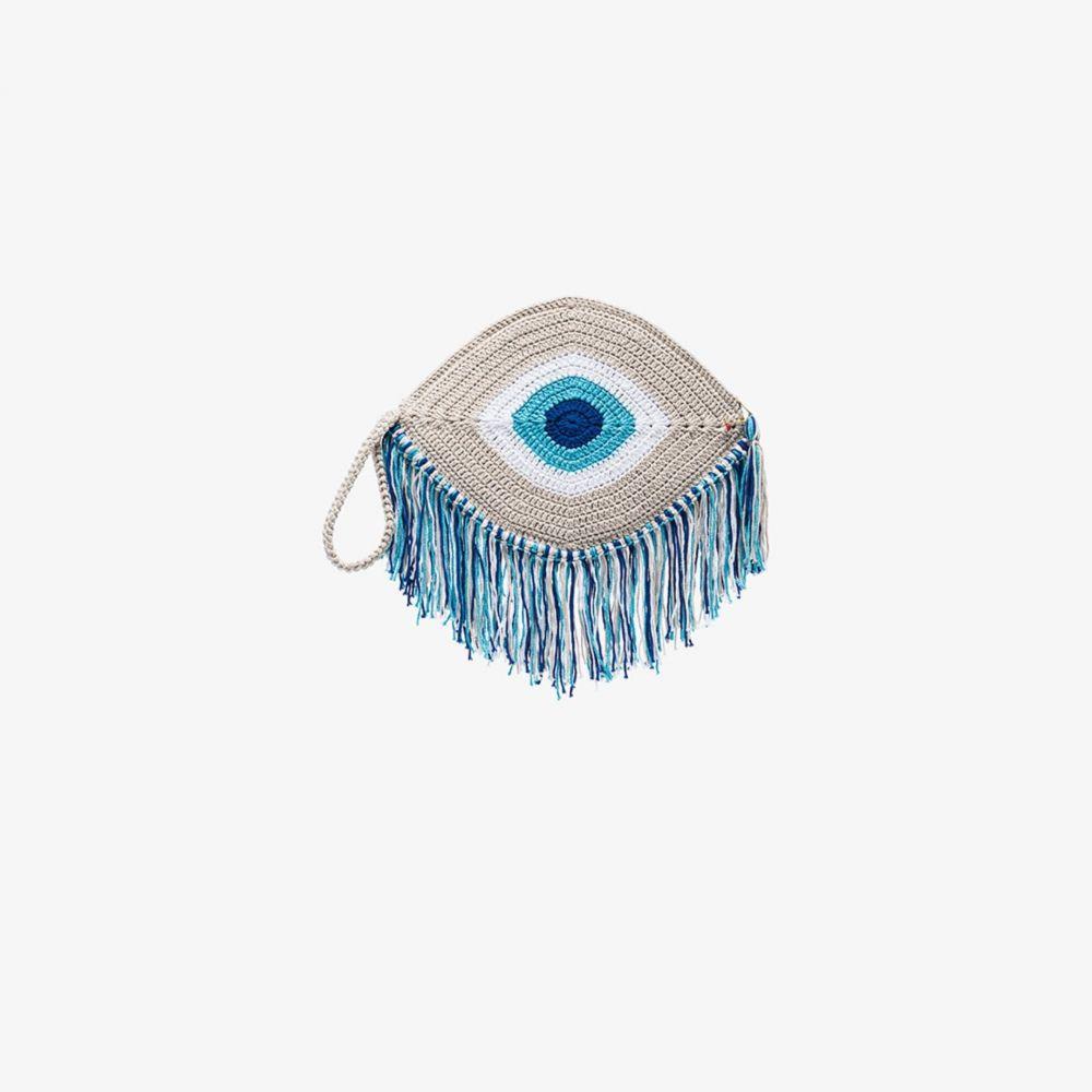 マイ ビーチーサイド レディース バッグ クラッチバッグ 供え サイズ交換無料 定番から日本未入荷 My Beachy Tassel blue Side trim Blue bag woven eye