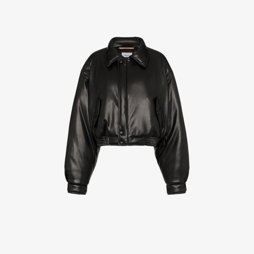 ナヌシュカ Nanushka レディース ブルゾン ミリタリージャケット アウター【Bomi vegan leather bomber jacket】black