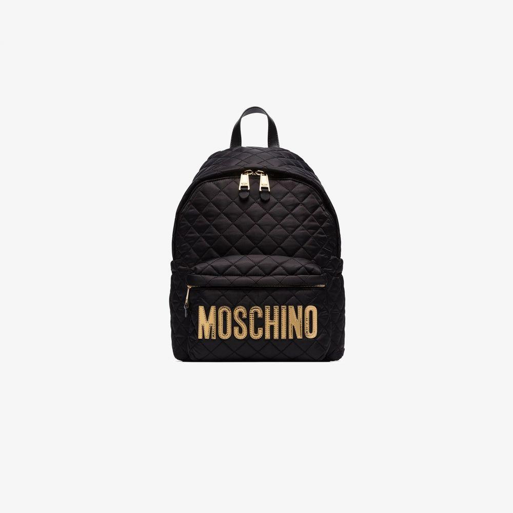 モスキーノ Moschino レディース バックパック・リュック バッグ【black quilted logo backpack】black