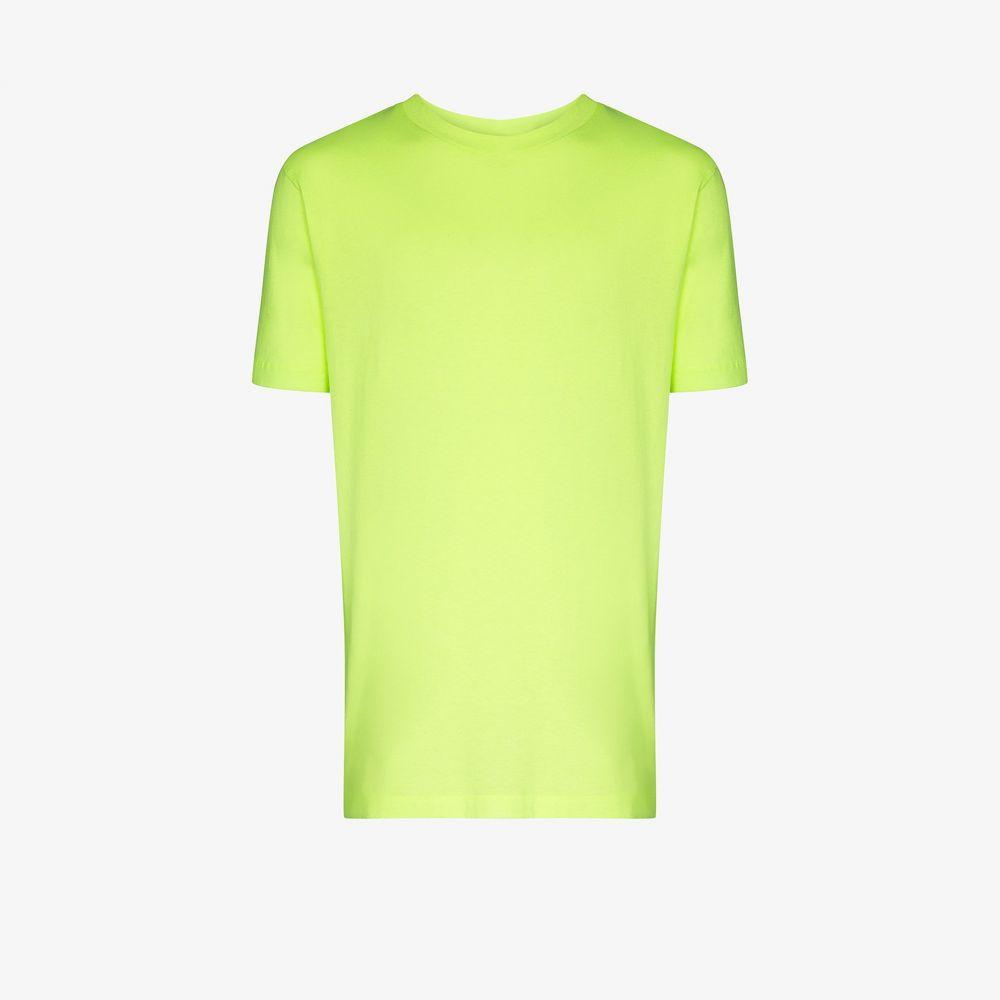 オフホワイト Off-White メンズ Tシャツ トップス【Arrow logo cotton T-shirt】yellow