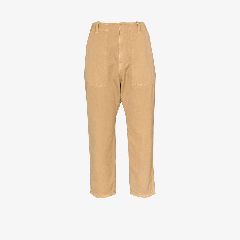 ニリ ロータン Nili Lotan レディース クロップド ボトムス・パンツ【Cropped Tapered Trousers】brown