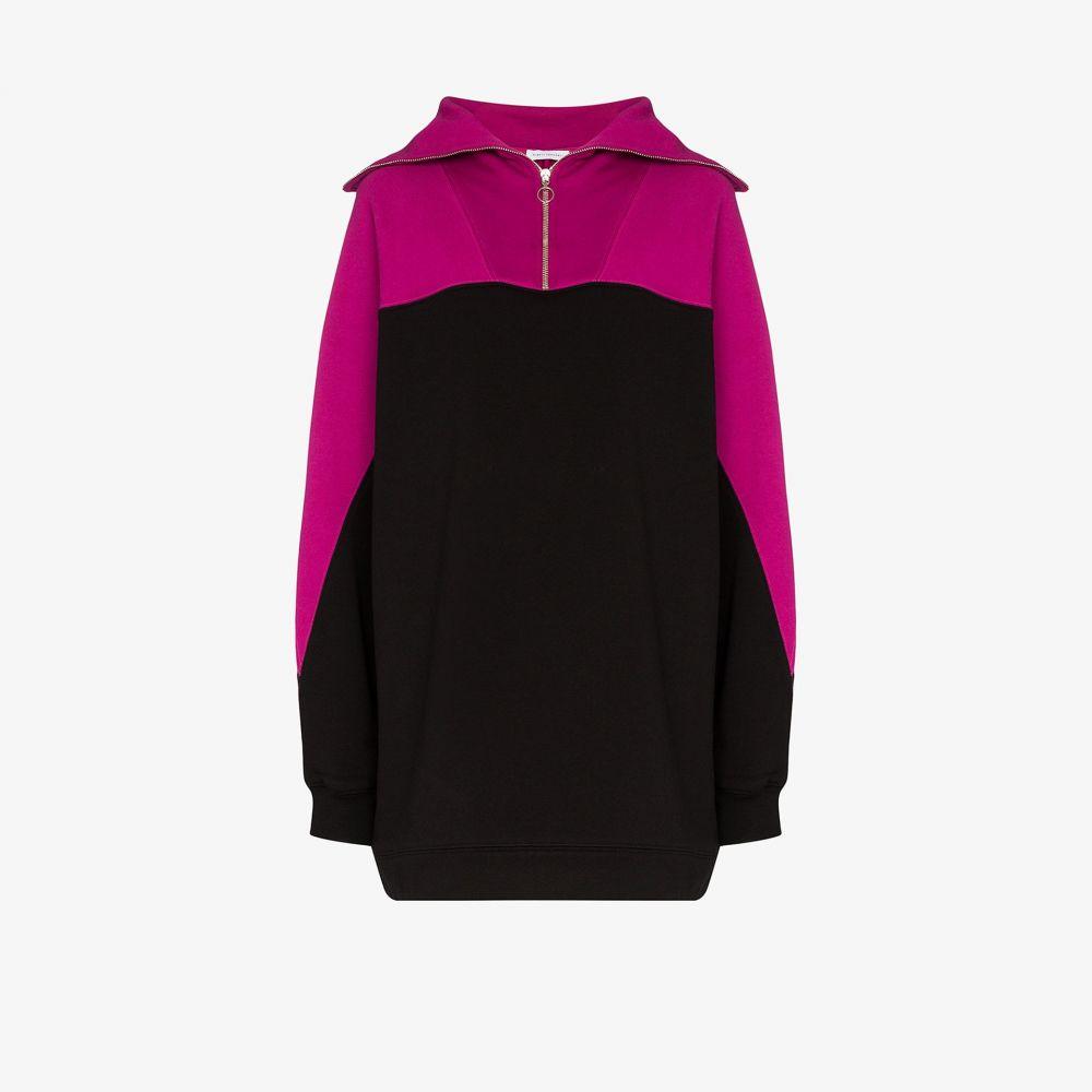 ナイティーパーセント Ninety Percent レディース スウェット・トレーナー トップス【oversized zipped sweatshirt】pink