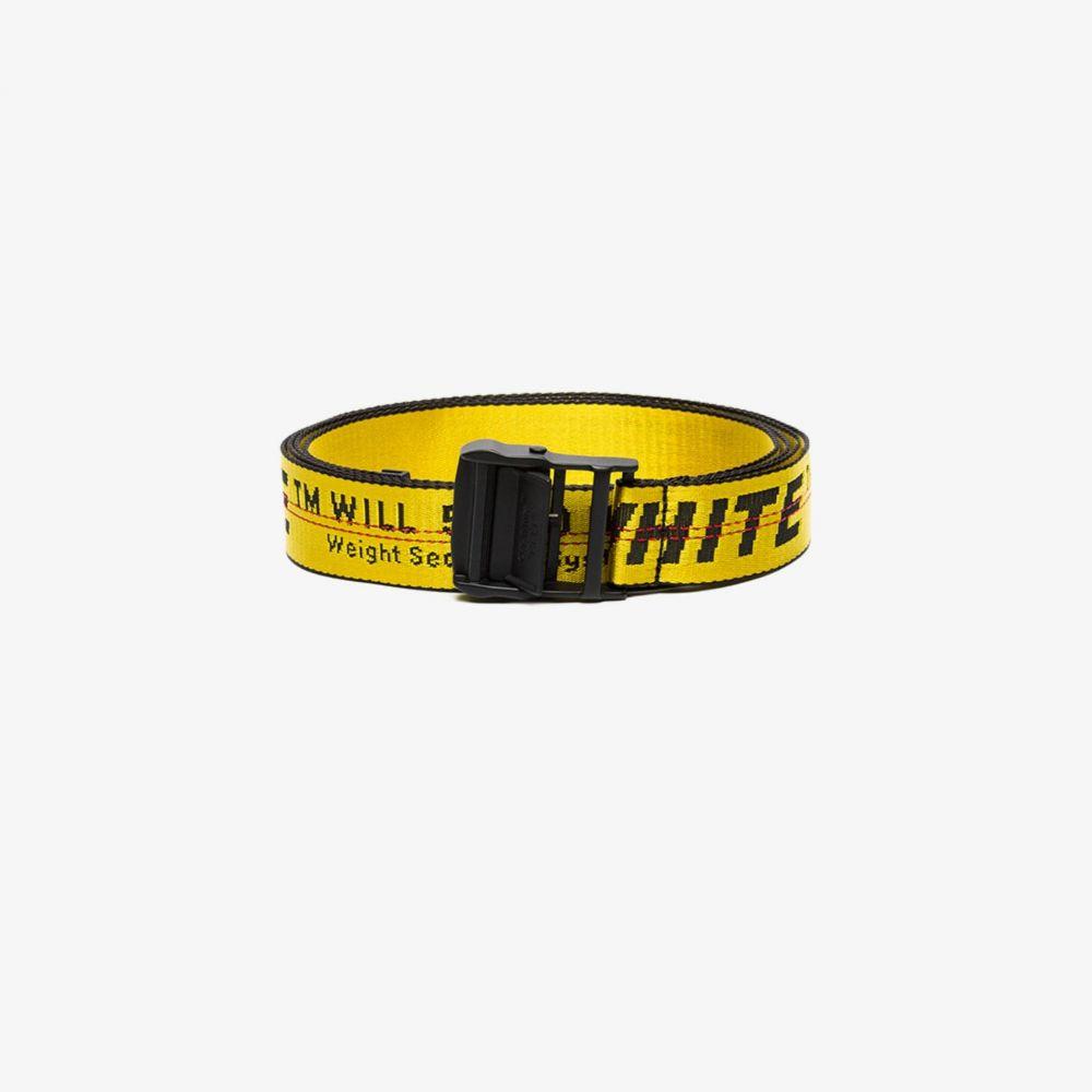 オフホワイト Off-White レディース ベルト 【industrial logo belt】yellow