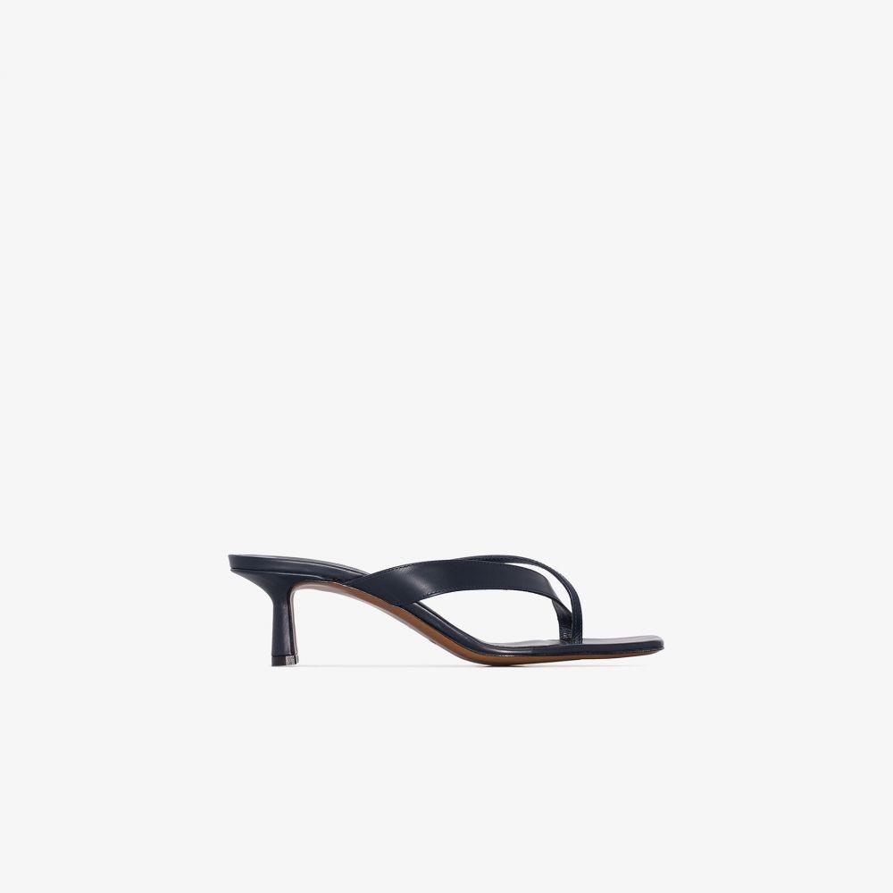 ネオアス NEOUS レディース サンダル・ミュール シューズ・靴【Navy Florae 55 Leather Sandals】blue