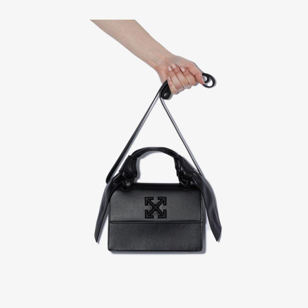 オフホワイト Off-White レディース ショルダーバッグ バッグ【black Jitney 1.4 leather shoulder bag】black