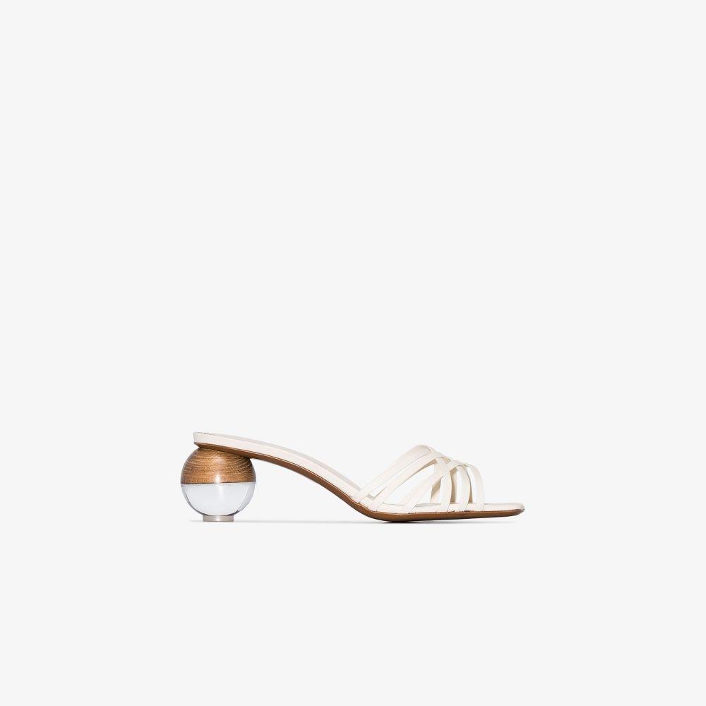 ネオアス NEOUS レディース サンダル・ミュール シューズ・靴【white Calpa 55 ball heel leather sandals】neutrals