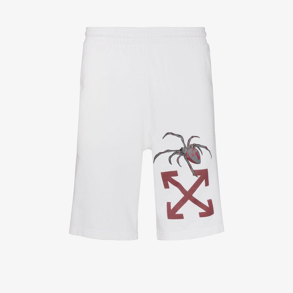 オフホワイト Off-White メンズ ショートパンツ ボトムス・パンツ【Arachno arrow print shorts】white