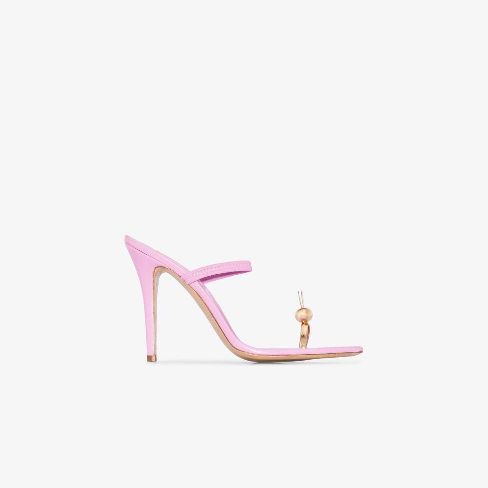 ナターシャ ジンコ Natasha Zinko レディース サンダル・ミュール シューズ・靴【pink bunny 110 leather sandals】pink