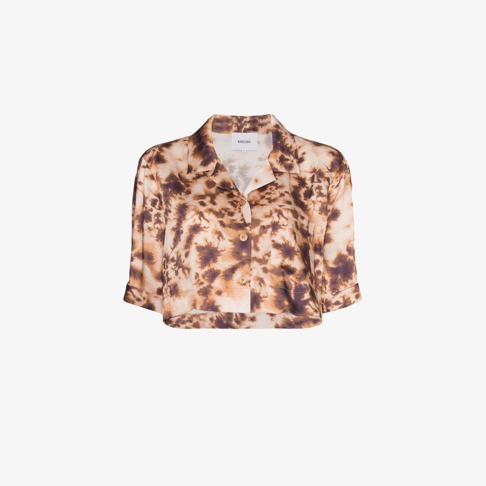 ナヌシュカ Nanushka レディース ベアトップ・チューブトップ・クロップド トップス【Rhett Print Cropped Satin Shirt】multicolour