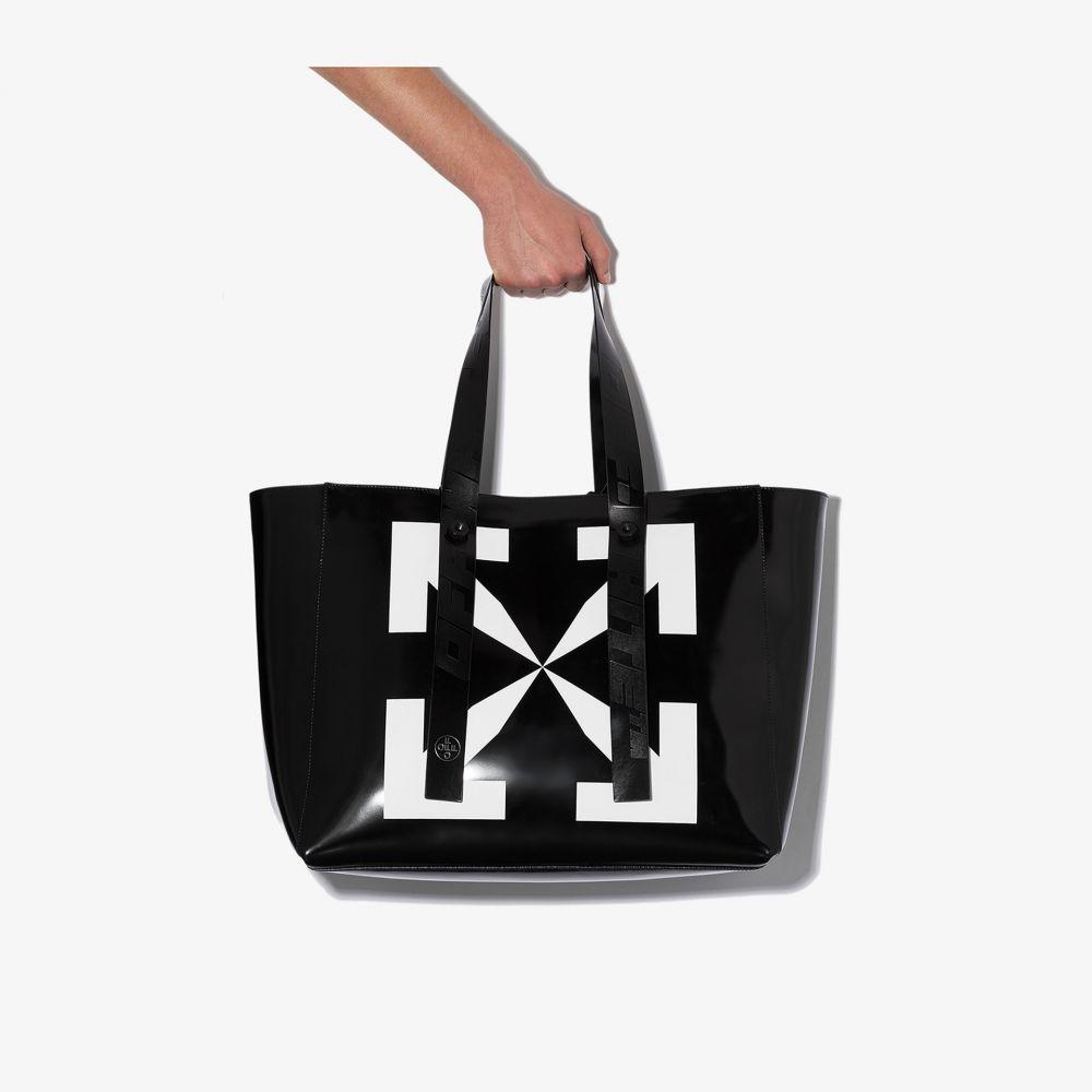 オフホワイト Off-White メンズ トートバッグ バッグ【black arrow leather tote bag】black