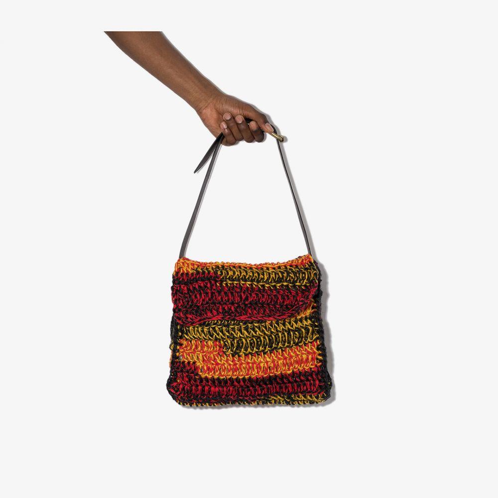 ニコラス デイリー Nicholas Daley メンズ メッセンジャーバッグ バッグ【red, yellow and black large crochet messenger bag】black