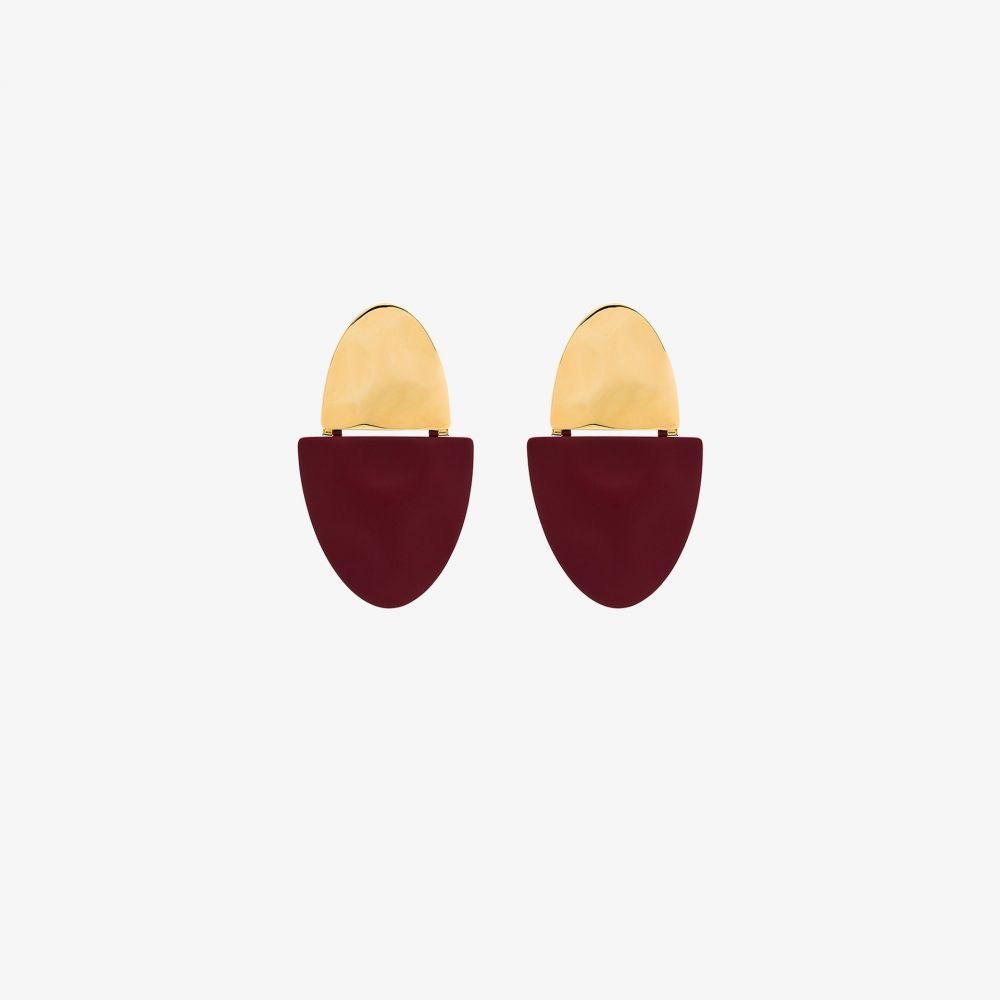 モニカソルド Nausheen Shah X Monica Sordo レディース イヤリング・ピアス ジュエリー・アクセサリー【gold-plated Gala split earrings】red