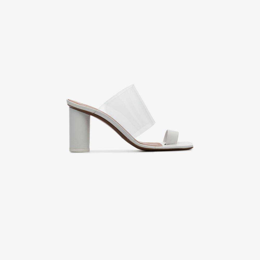 ネオアス NEOUS レディース サンダル・ミュール シューズ・靴【white Chost 80 leather PVC sandals】white