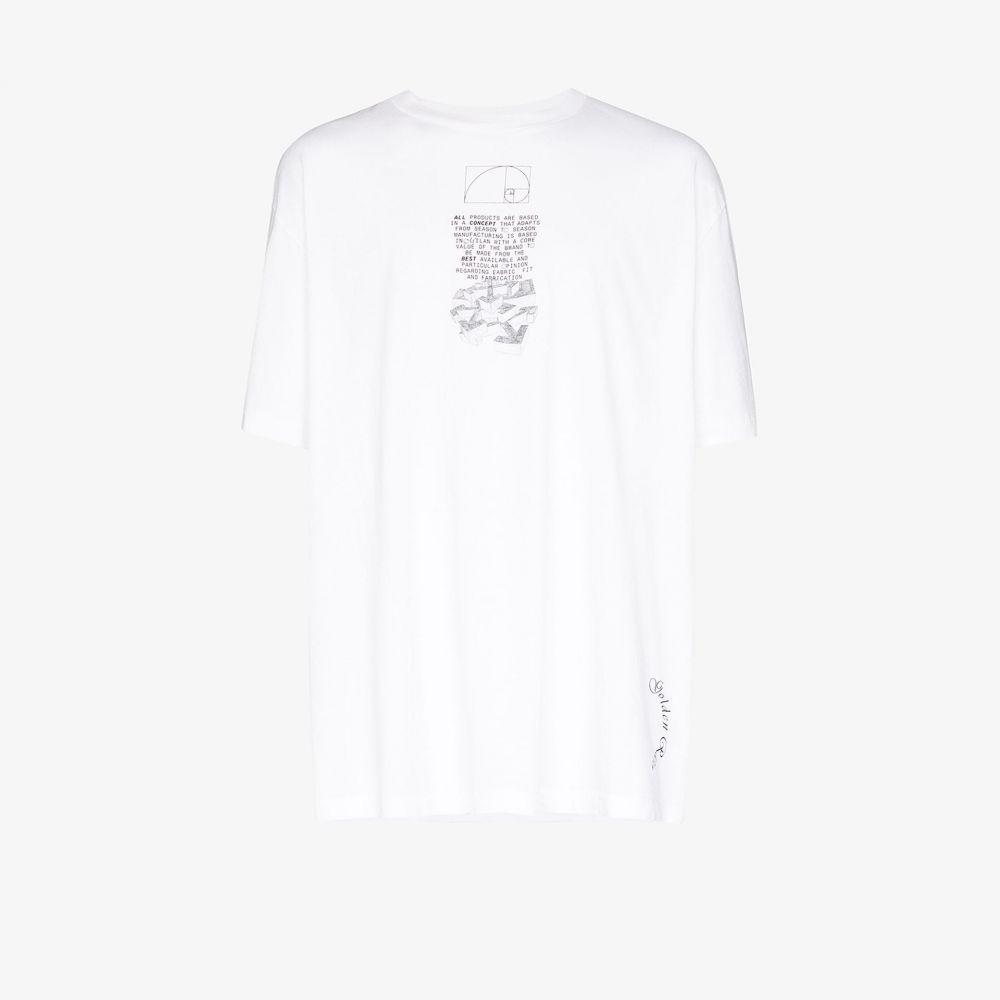 オフホワイト Off-White メンズ Tシャツ トップス【dripping arrows print cotton T-shirt】white