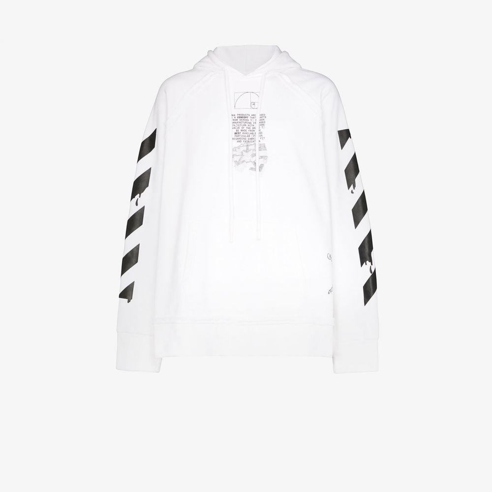 オフホワイト Off-White メンズ パーカー トップス【Dripping Arrows print hoodie】white