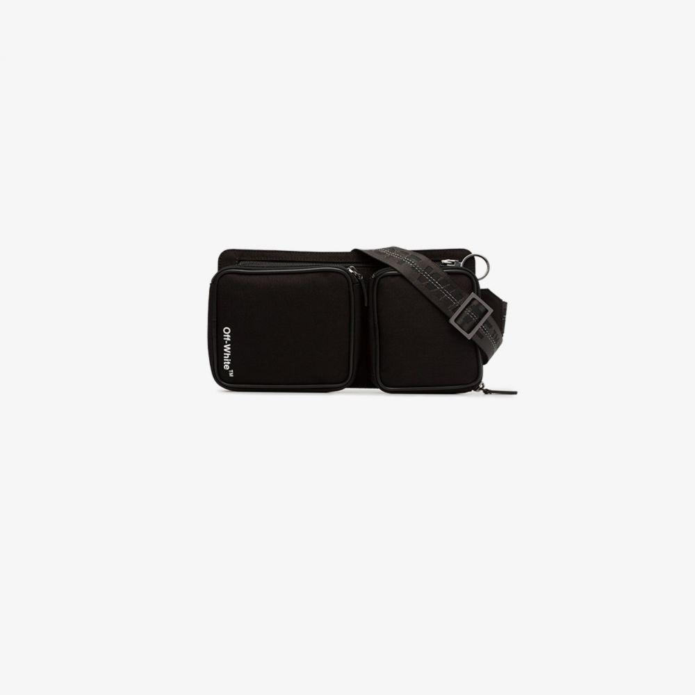 オフホワイト Off-White メンズ ボディバッグ・ウエストポーチ バッグ【Cordura logo print belt bag】black
