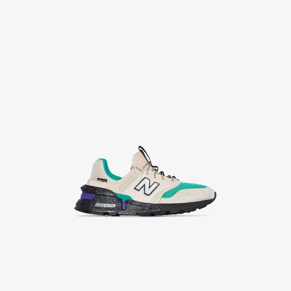 ニューバランス New Balance メンズ スニーカー シューズ・靴【multicoloured MS997 leather sneakers】neutrals
