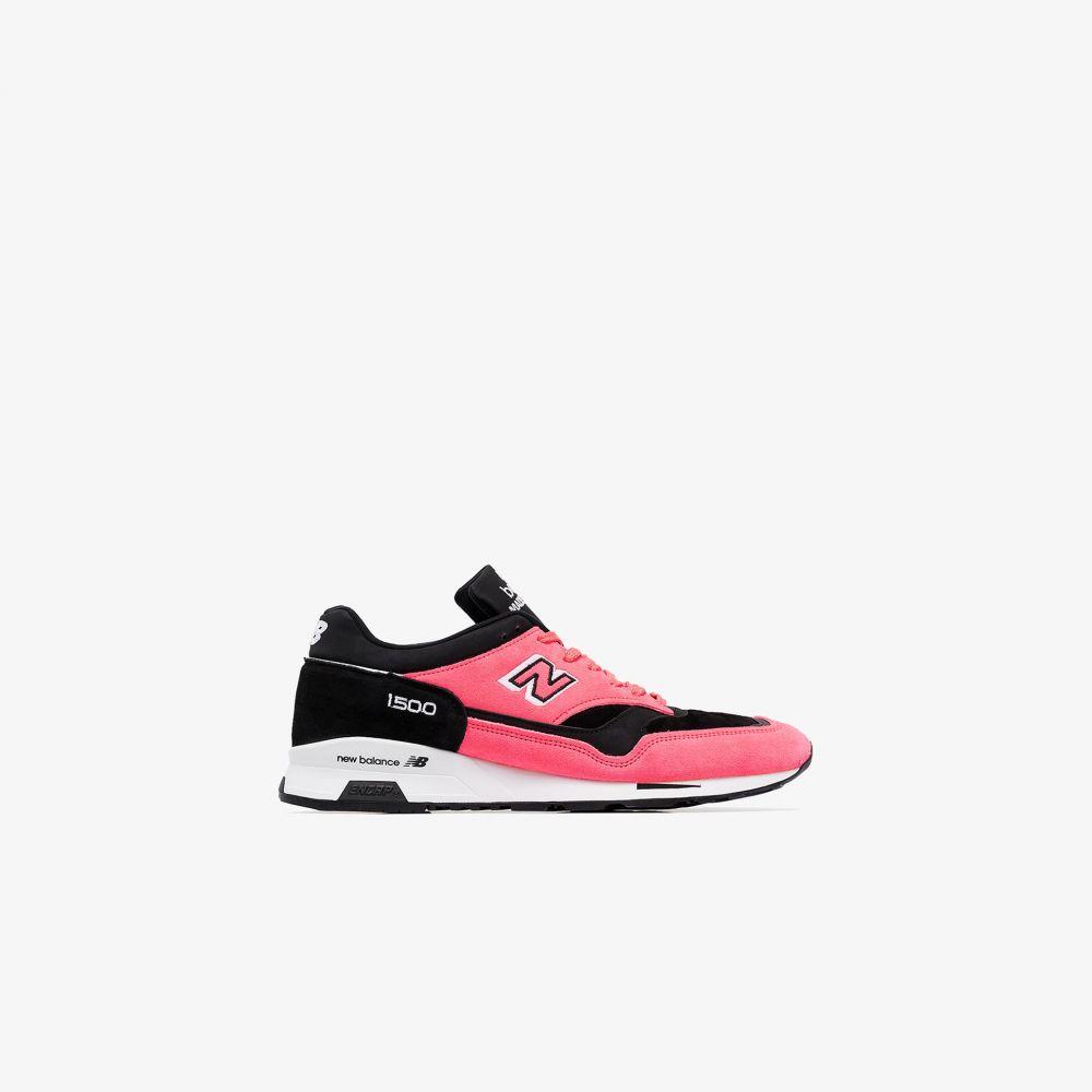 ニューバランス New Balance メンズ スニーカー ローカット シューズ・靴【black suede low top sneakers】pink