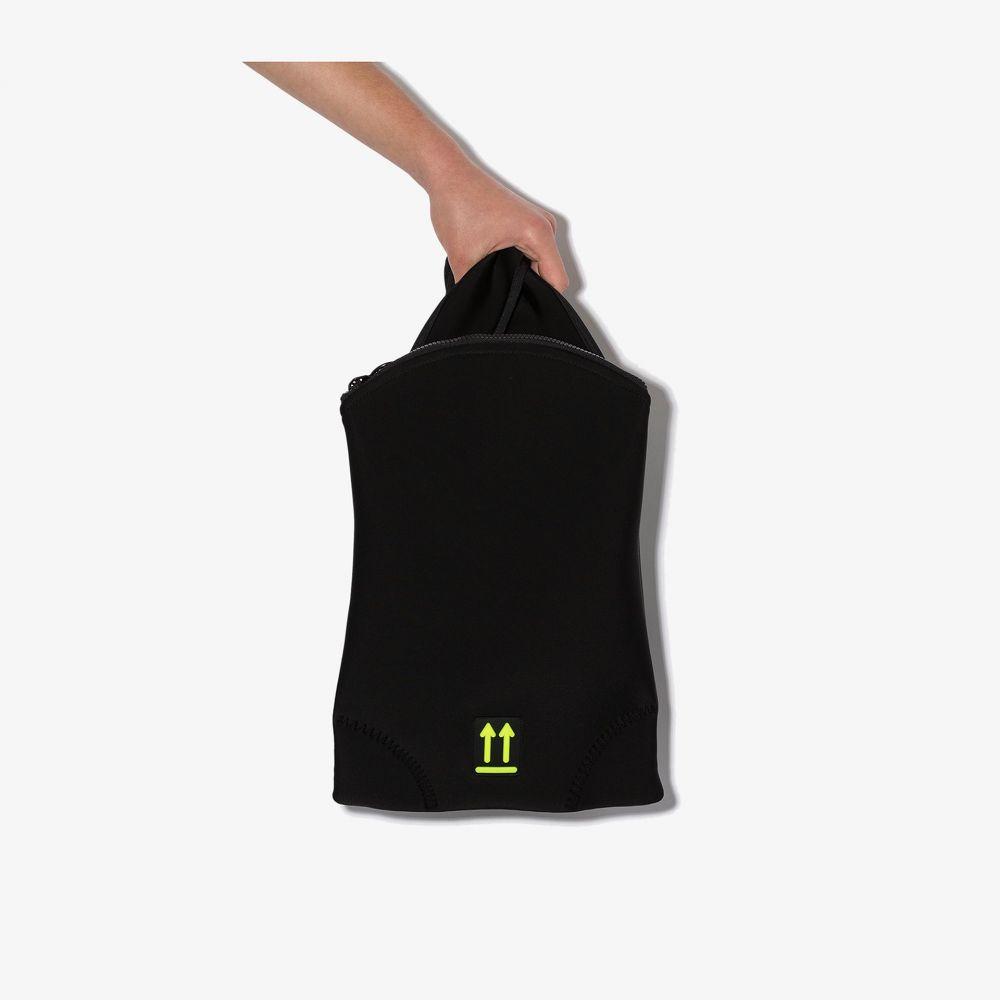 オフホワイト Off-White レディース バックパック・リュック バッグ【logo patch flap backpack】black