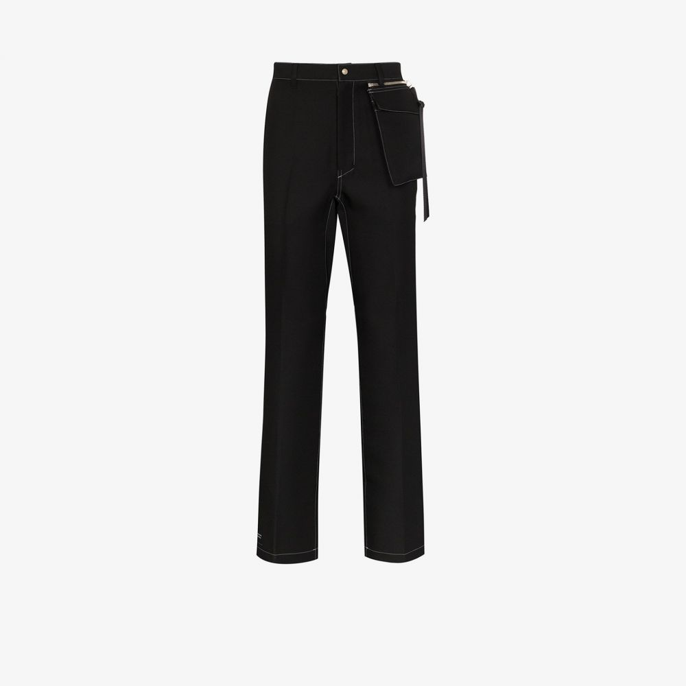 ニューレーベル NULABEL メンズ ボトムス・パンツ 【straight leg work trousers】black