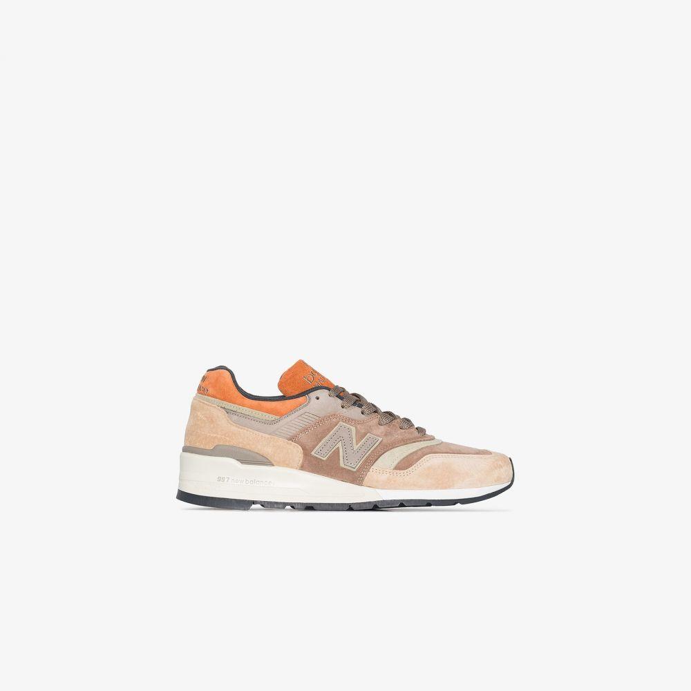 ニューバランス New Balance メンズ スニーカー シューズ・靴【brown M997 suede sneakers】brown