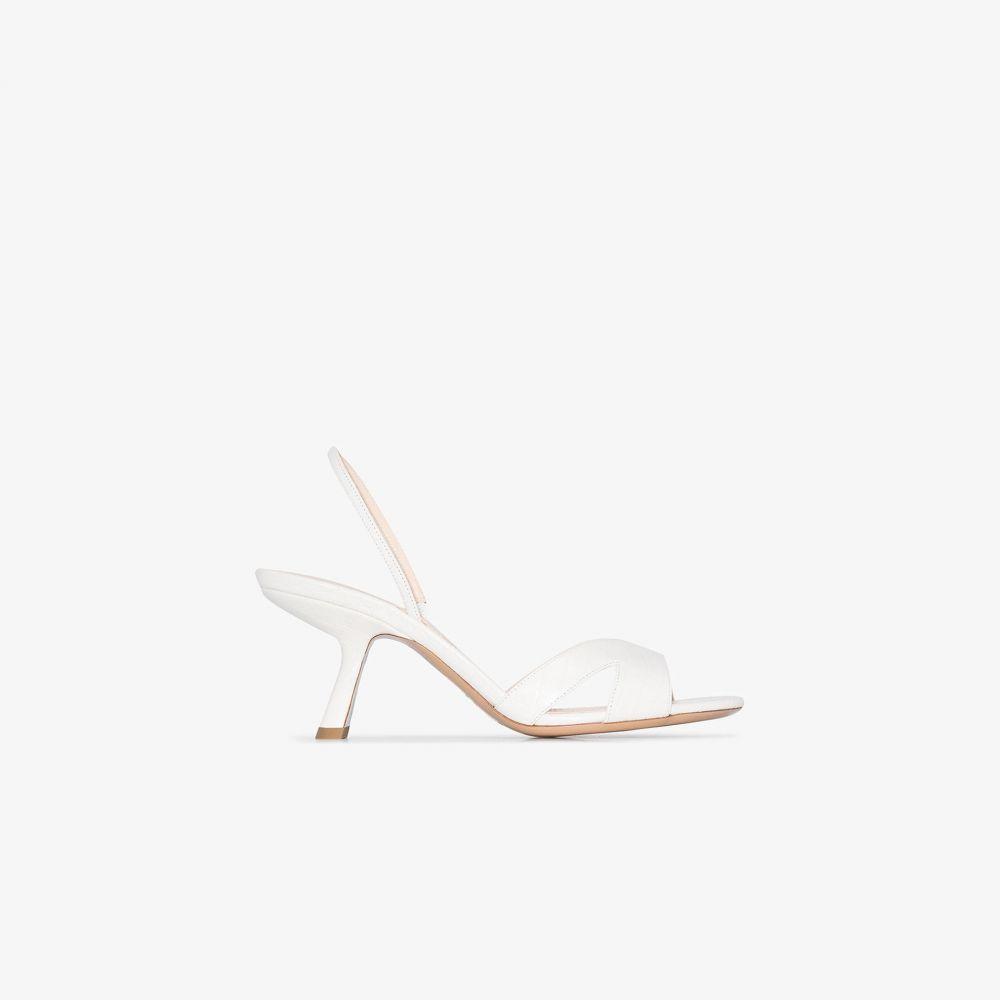 ニコラス カークウッド Nicholas Kirkwood レディース サンダル・ミュール シューズ・靴【White Lexi 70 mock croc leather sandals】white