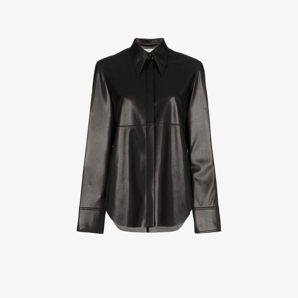 ナヌシュカ Nanushka レディース ブラウス・シャツ トップス【Noelle Vegan Leather Shirt】black