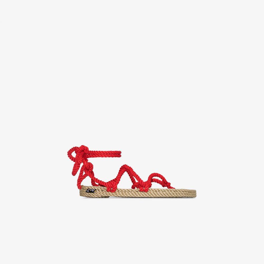 ロマディックステートオブマインド NOMADIC STATE OF MIND レディース サンダル・ミュール シューズ・靴【red Romano rope sandals】red
