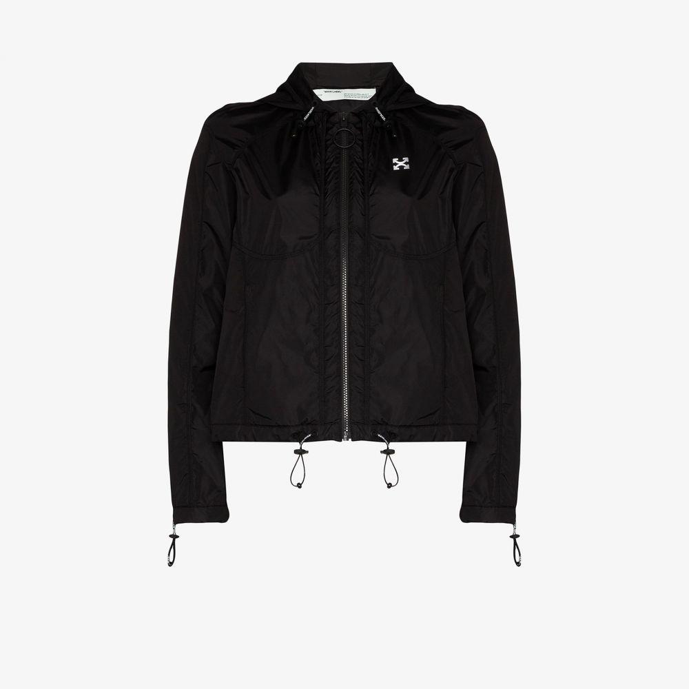 オフホワイト Off-White レディース ジャケット フード ウィンドブレーカー アウター【hooded windbreaker jacket】black