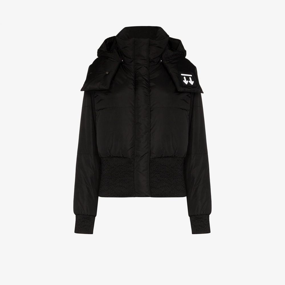 オフホワイト Off-White レディース ダウン・中綿ジャケット アウター【logo print puffer jacket】black