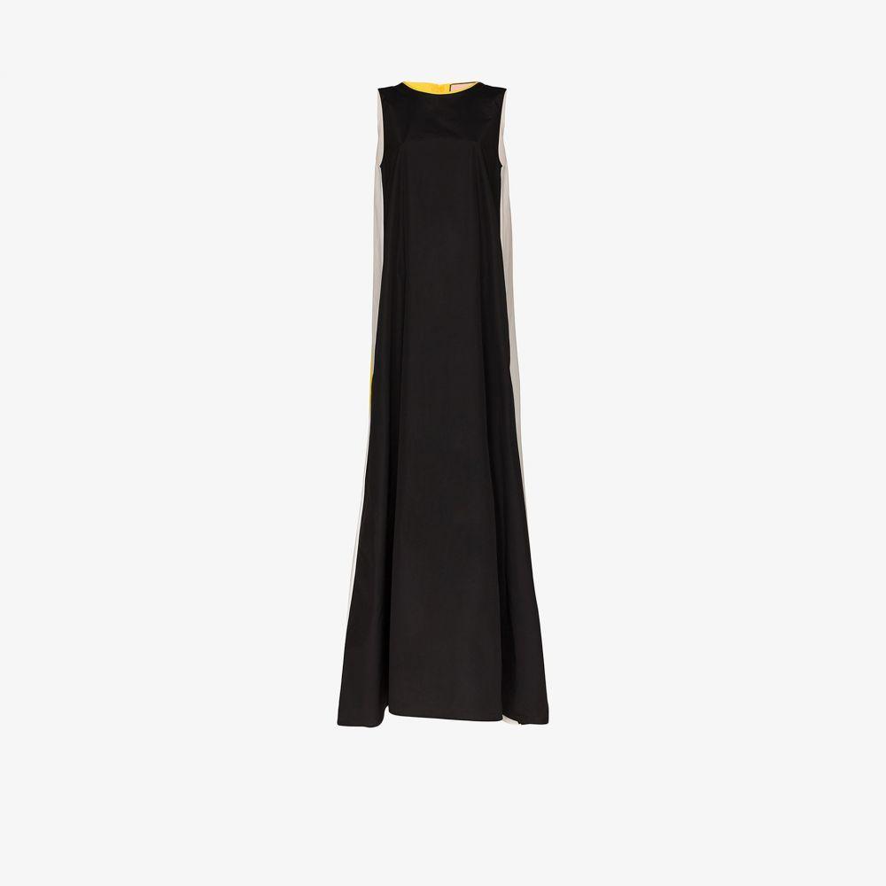 プラン C Plan C レディース パーティードレス ノースリーブ ワンピース・ドレス【sleeveless colour block gown】black