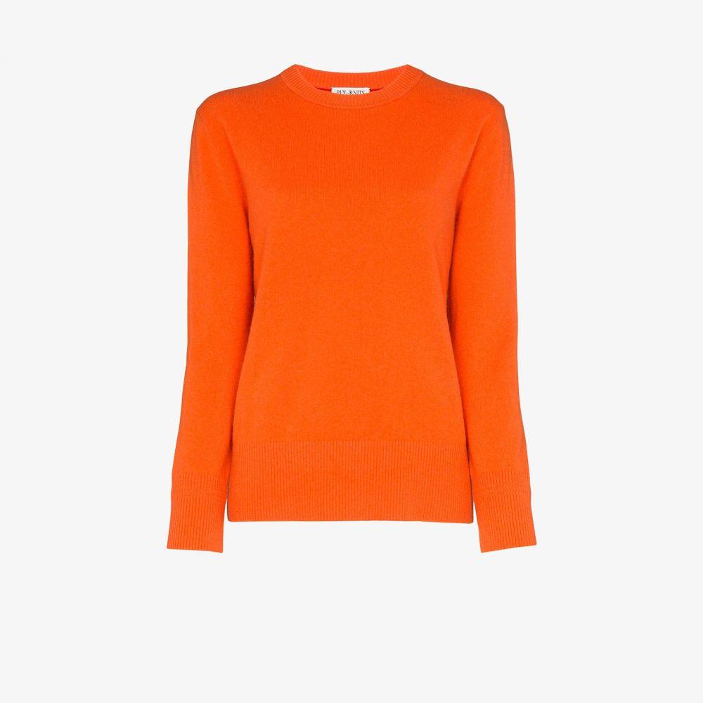 プライニット Ply-Knits レディース ニット・セーター トップス【round neck cashmere sweater】orange