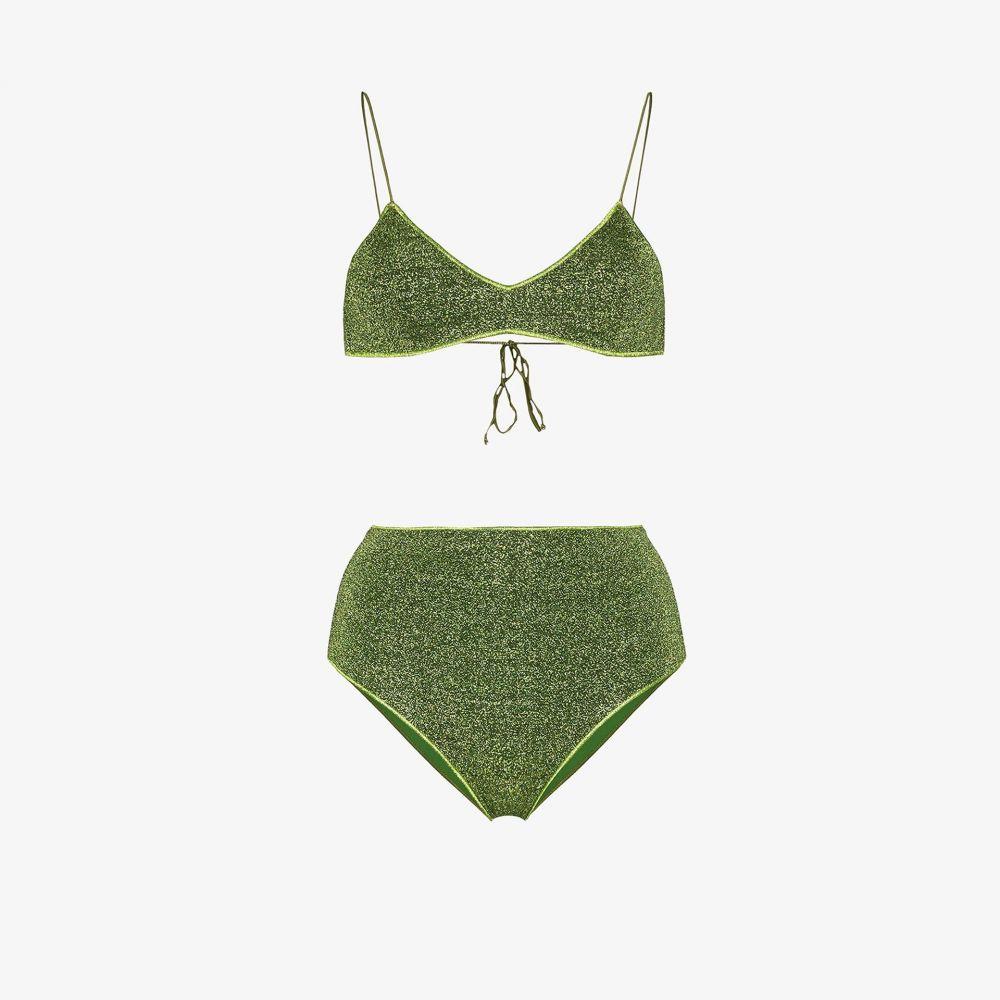オセリー Oseree レディース 上下セット 水着・ビーチウェア【Lumiere metallic bikini】green